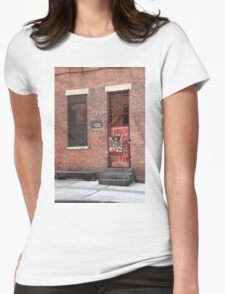 Brooklyn, New York, 126 Front Street Womens Fitted T-Shirt