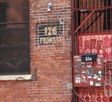 Brooklyn, New York, 126 Front Street Sticker