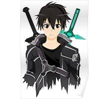 Sword Art Online Front Kirito Poster