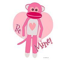 Valentine Sock Monkey Photographic Print