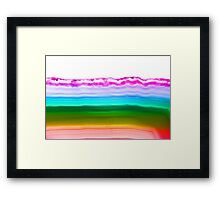 Fancy rainbow colors agate slice mineral Framed Print