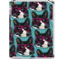 Hipster Glasses Kitty Pattern  iPad Case/Skin