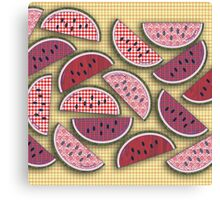 Cute Vintage Watermelons Canvas Print