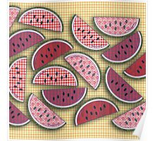 Cute Vintage Watermelons Poster