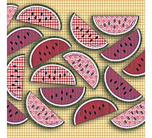 Cute Vintage Watermelons Photographic Print