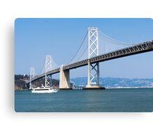 Cruising under the San Francisco – Oakland Bay Bridge Canvas Print
