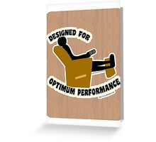 Optimum Performance Greeting Card
