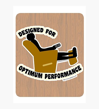Optimum Performance Photographic Print