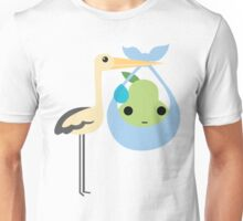 Stork with Baby Pear Emoji Sweat and Speechless Unisex T-Shirt