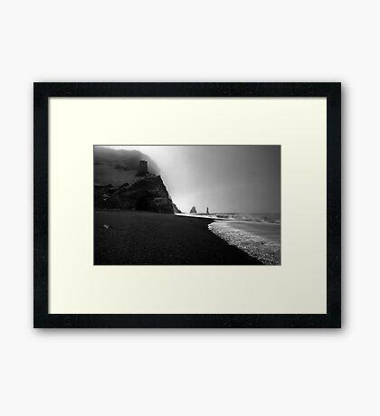 Reynisfjara Beach and the Trolls Framed Print