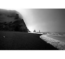 Reynisfjara Beach and the Trolls Photographic Print