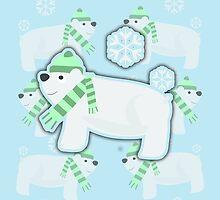Sassy Polar Bears by mytshirtfort