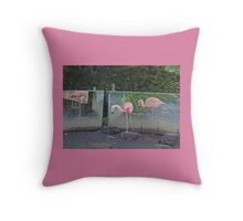 Ballet De Flamingo Throw Pillow