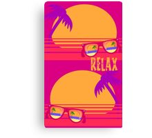 Relax at Sunset Canvas Print