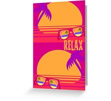 Relax at Sunset Greeting Card