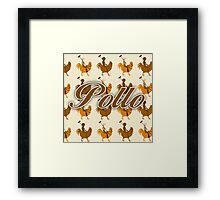 Pollo Pattern  Framed Print
