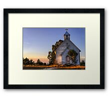 Country Church at Sunrise Framed Print
