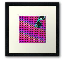 Neon 80's Rainbow Shades Framed Print