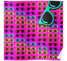 Neon 80's Rainbow Shades Poster