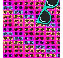 Neon 80's Rainbow Shades Photographic Print