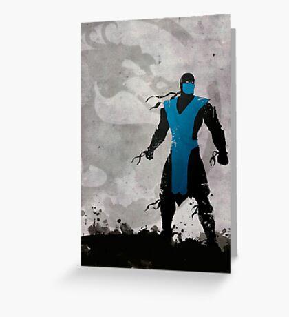 Mortal Kombat Inspired Sub-Zero Poster  Greeting Card