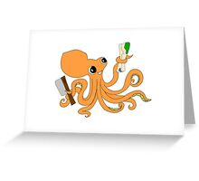Octocleaver Greeting Card