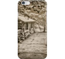 The old cabin in sepia iPhone Case/Skin