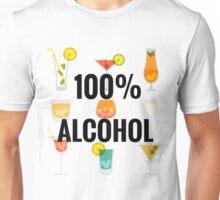 100% Alcohol - Cool Wedding T-shirts, bachelors party, best man, grooms Unisex T-Shirt