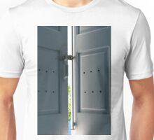 Window shutters in light blue Unisex T-Shirt