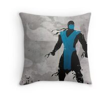 Mortal Kombat Inspired Sub-Zero Poster  Throw Pillow