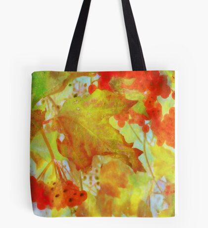 Autumn Leaves and Berries #1 Tote Bag