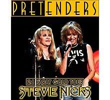 stevie nick with pretenders 24 karat gold tour 2016 Photographic Print
