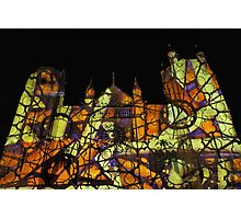2 illuminations Cathédrale de Poitiers Par kolektifalambik.net - Photos  panasonic fz 2000 par Okaio Créations Photographic Print
