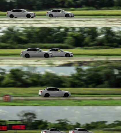 BMW 335 vs M3 Dueling Collage Sticker
