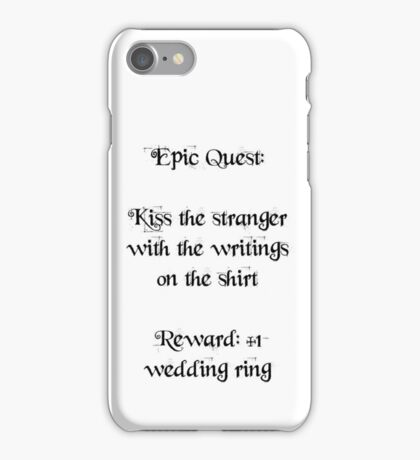 Wedding Ring Quest iPhone Case/Skin