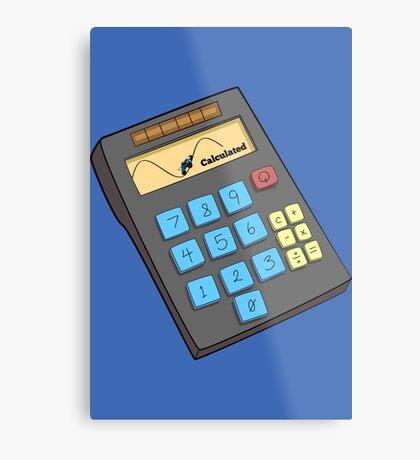 Rocket League - calculator Metal Print