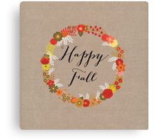 Happy Fall Canvas Print