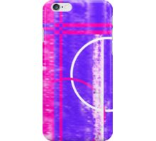 Neon pink blue grunge design iPhone Case/Skin