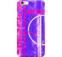 Neon pink blue grunge design iPhone Case/Skin