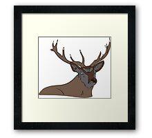 Rudolf the pimply reindeer  Framed Print