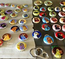 Bottle Cap Birds by Cindy Schnackel