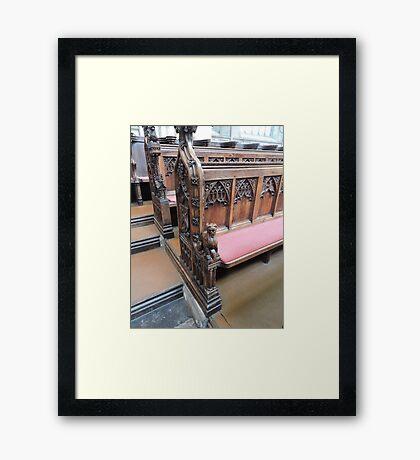 Bath Abbey Carvings Framed Print