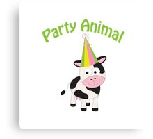 Party Animal cow Canvas Print