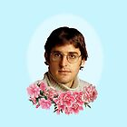 flowery louis theroux by Lily Wilkinson