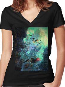 Gravity Rush 2 Women's Fitted V-Neck T-Shirt