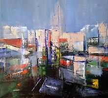 Silver City - Painting, Cityscape. by William Wright