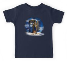 time and space traveller with Crying AngeL Kids Tee