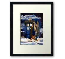 time and space traveller with Crying AngeL Framed Print