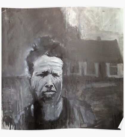 Tom Waits, What's he building in there? Painting Poster