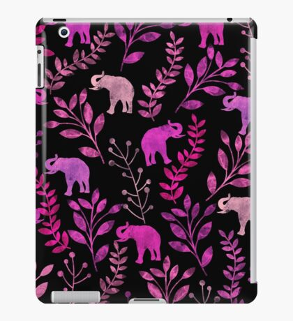 Floral and Elephant  iPad Case/Skin